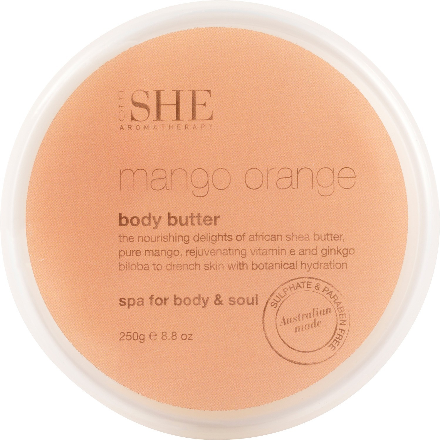 Om She Aromatherapy Mango Orange Body Butter 250 G 525 Ginger Wash