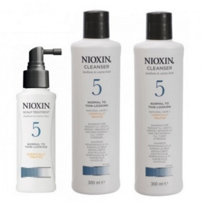 Nioxin Starter Set System 5 For Frizzy Untreated 300 ml + 300 ml + 100 ml