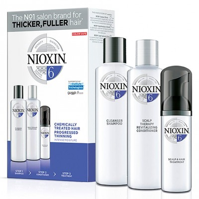 Nioxin Starter Set System 6 For Chemically Treated Hair 300 ml + 300 ml + 100 ml
