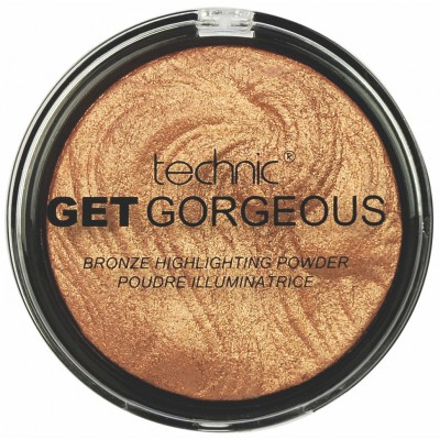 Technic Get Gorgeous Bronze Highlighting Powder 24CT Gold 6 g