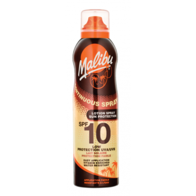 Malibu Continuous Sun Lotion Spray SPF10 175 ml