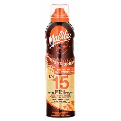 Malibu Continuous Dry Oil Spray SPF15 175 ml