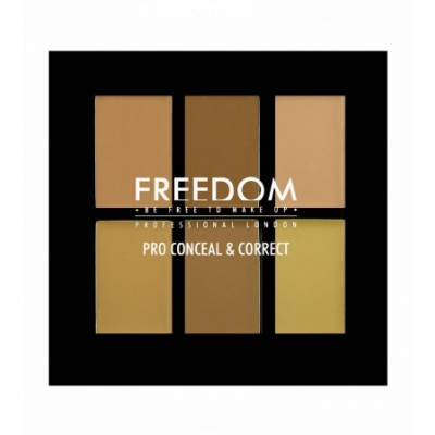 Freedom Makeup Pro Conceal & Correct Palette Color Correct Light Medium 6 g