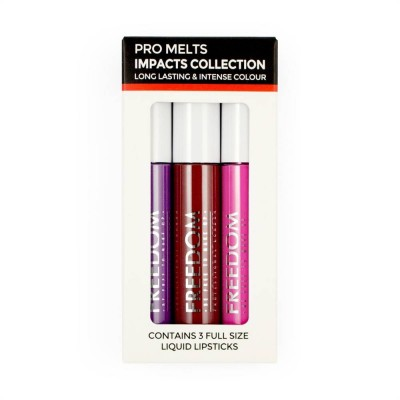 Freedom Makeup Pro Melts Impacts Lipgloss Collection 3 stk