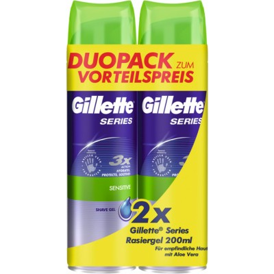 Gillette Series Shave Gel Sensitive Duo 2 x 200 ml