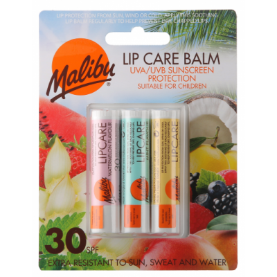 Malibu Lip Care Balm SPF30 3 stk