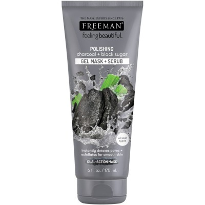 Freeman Charcoal & Black Sugar Gel Mask & Scrub 175 ml