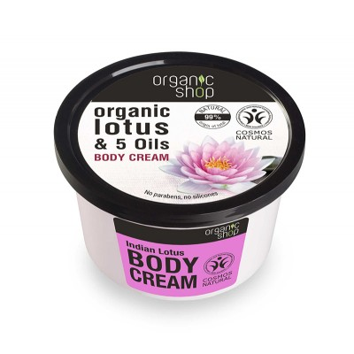 Organic Shop Organic Lotus & 5 Oils Body Cream 250 ml