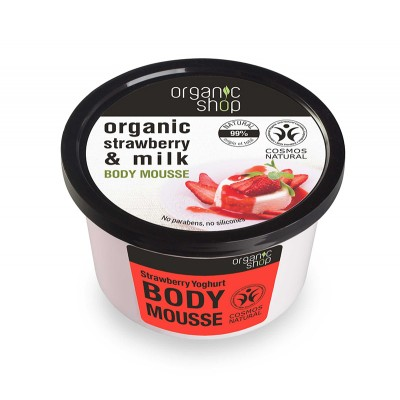 Organic Shop Bio Erdbeer & Milch Body Mousse 250 ml