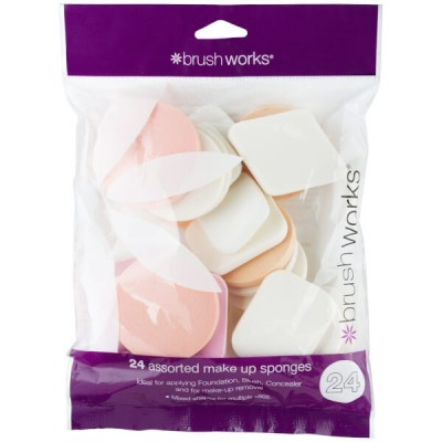 Brush Works Assorted Make Up Sponges 24 stk