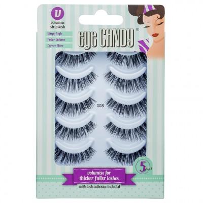 Eye Candy False Eyelashes Multipack 008 5 kpl