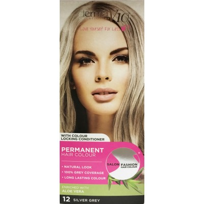 DermaV10 Salon Fashion Hair Colour Silver Grey 1 st