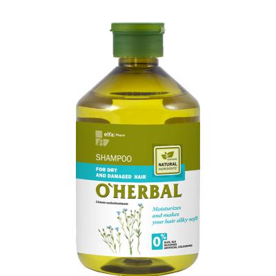 O'Herbal Dry & Damaged Hair Flax Extract Shampoo 500 ml