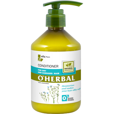 O'Herbal Dry & Damaged Hair Flax Extract Conditioner 500 ml