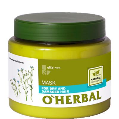 O'Herbal Dry & Damaged Hair Flax Extract Hair Mask 500 ml