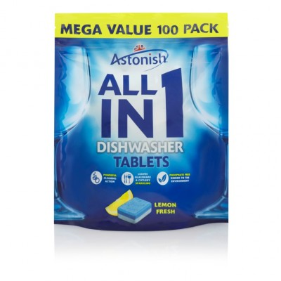 Astonish All-in-1 Dishwasher Tablets Lemon Fresh 100 st