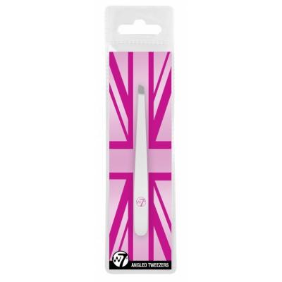 W7 Angled Tweezers 1 stk