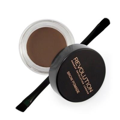 Revolution Makeup Brow Pomade Dark Brown 2,5 g + 1 stk