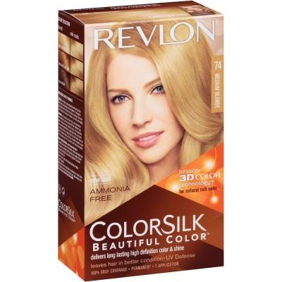 Revlon Colorsilk Permanent Haircolor 74 Medium Blonde 1 stk