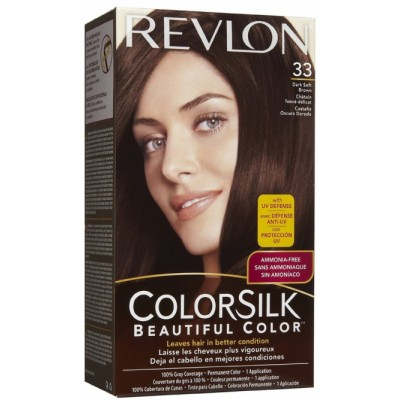 Revlon Colorsilk Permanent Haircolor 33 Dark Soft Brown 1 st