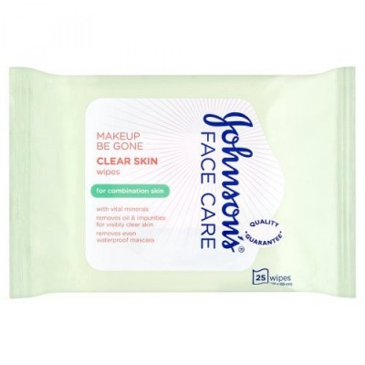 Johnson's Face Care Clear Skin Wipes Combination Skin 25 st