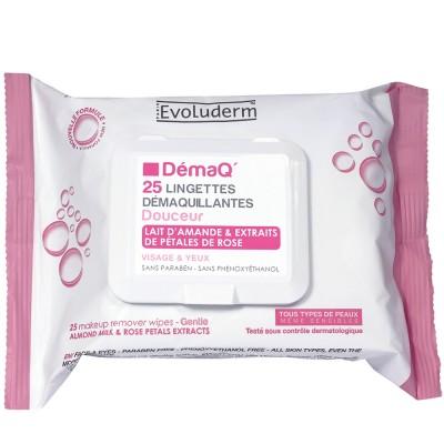 Evoluderm Make-up Entferner Tücher Mandelmilch Alle Hauttypen 25 stk