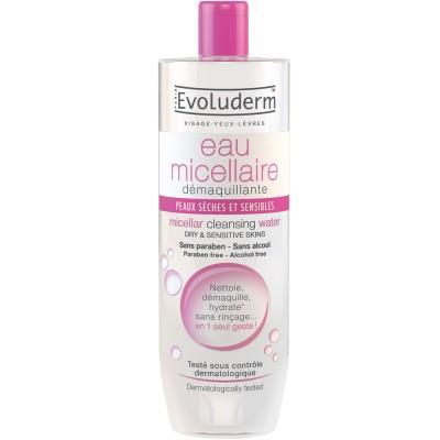 Evoluderm Micellar Cleansing Water Dry & Sensitive Skin 250 ml