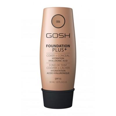 GOSH Foundation Plus Cover & Conceal 006 Honey SPF15 30 ml