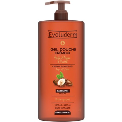 Evoluderm Argan Oil & Shea Butter Showergel 1000 ml