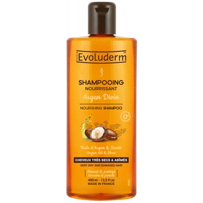 Evoluderm Argan Oil & Shea Shampoo 400 ml