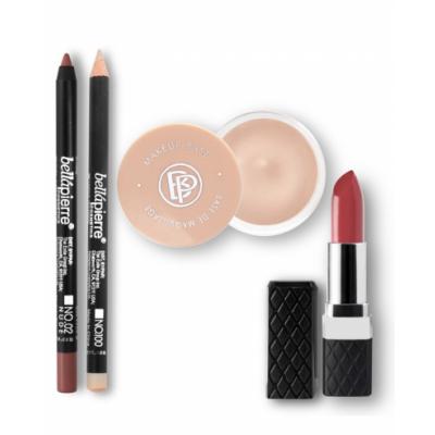Bellápierre Cosmetics Lip Contour and Highlighting Kit Nude 4 kpl