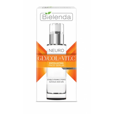 Bielenda Neuro Glicol + Vitamin C Verjüngendes Serum für die Nacht 30 ml
