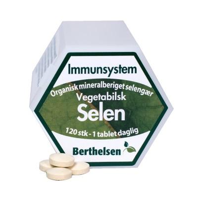 Berthelsen Selen 100 mcg - Vegetabilsk 120 tabletter
