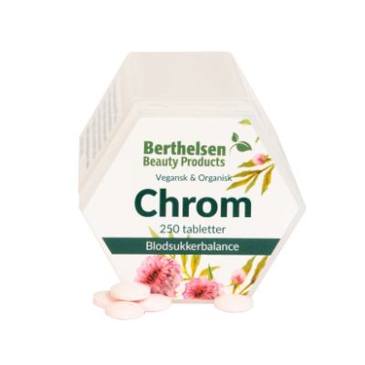 Berthelsen Chrom 62,5 mcg - Vegetabilsk 250 tabletter