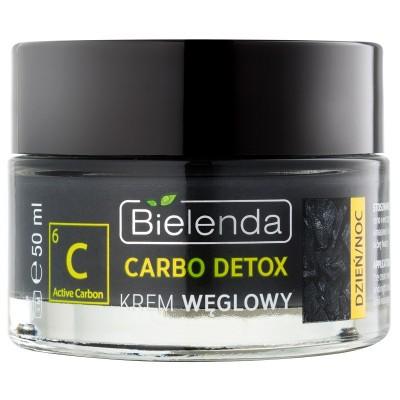 Bielenda Carbo Detox Tag & Nacht Creme mit Aktivkohle  50 ml