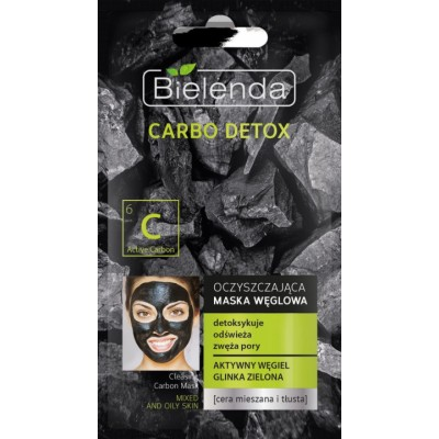 Bielenda Carbo Detox Cleansing Carbon Face Mask Oily Skin 8 g