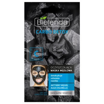 Bielenda Carbo Detox Cleansing Carbon Face Mask Dry & Sensitive Skin 8 g