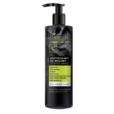 Bielenda Carbo Detox Reinigungsgel mit Aktivkohle Fettige Haut 195 g