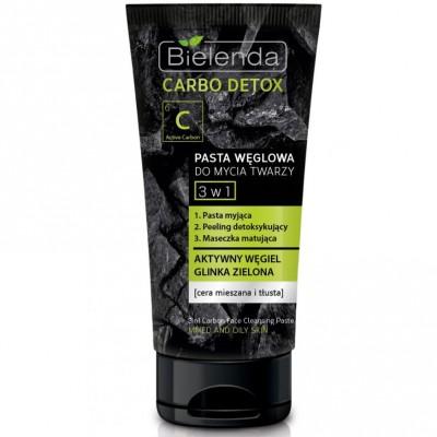 Bielenda Carbo Detox 3-in-1 Reinigungspaste mit Aktivkohle Fettige Haut 150 g
