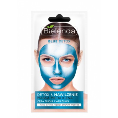 Bielenda Blue Detox Detoxifying Face Mask Trockene & Sensitive Haut 8 g