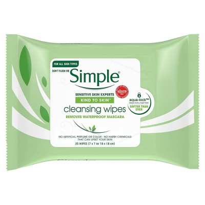 Simple Cleansing Facial Wipes 25 stk