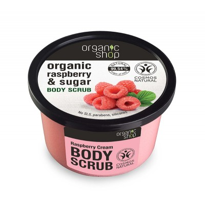 Organic Shop Organic Raspberry Cream & Sugar Body Scrub 250 ml
