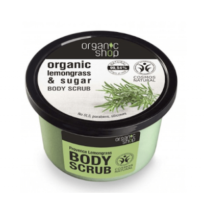 Organic Shop Organic Lemongrass & Sugar Body Scrub 250 ml