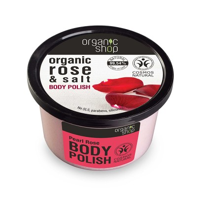 Organic Shop Organic Pearl Rose & Salt Body Polish 250 ml