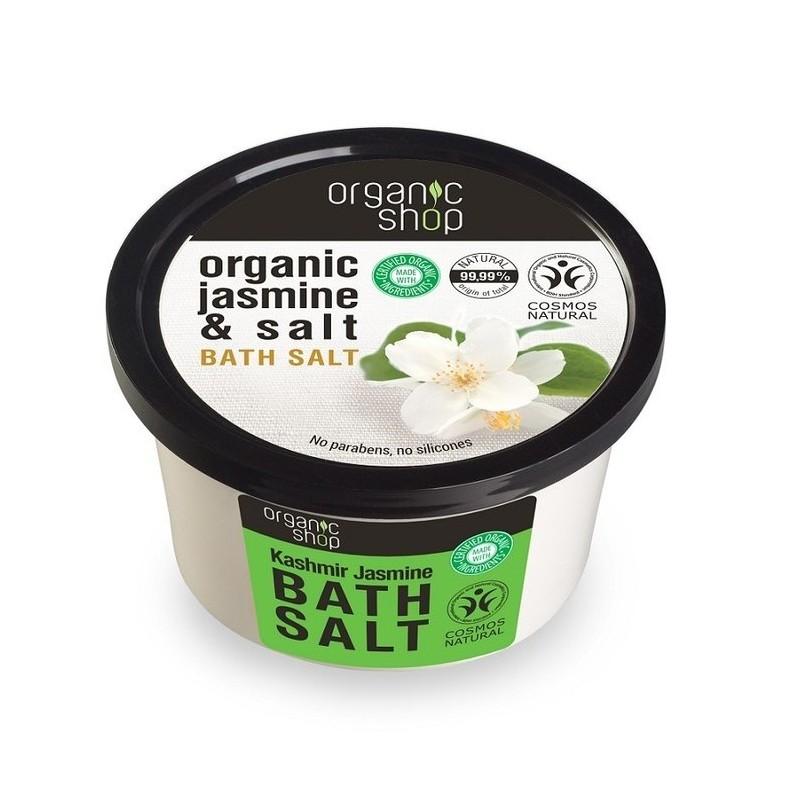 Organic shop organic kashmir jasmine bath salt 250 ml for Salt bath for fish