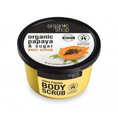 Organic Shop Organic Juicy Papaya & Sugar Body Scrub 250 ml