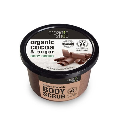 Organic Shop Organic Belgian Chocolate & Sugar Body Scrub 250 ml
