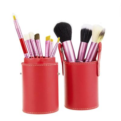 Basics Makeup Brush Set Red 12 pcs