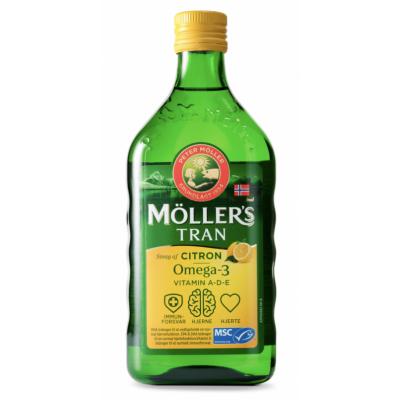 Möllers Tran Kalanmaksaöljy Sitruuna 500 ml
