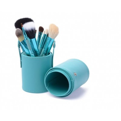 Basics Makeup Brush Set Blue 12 stk